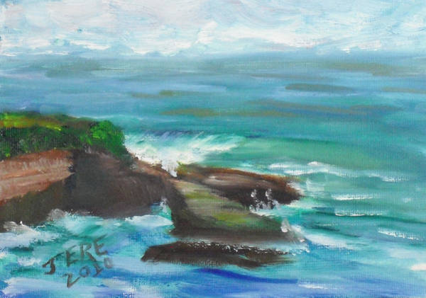 Painting - La Jolla Cove 090 by Jeremy McKay
