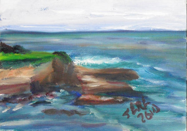 Painting - La Jolla Cove 091 by Jeremy McKay