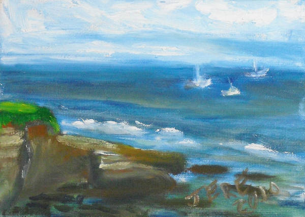Painting - La Jolla Cove 092 by Jeremy McKay