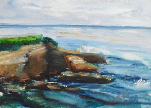 Painting - La Jolla Cove 093 by Jeremy McKay