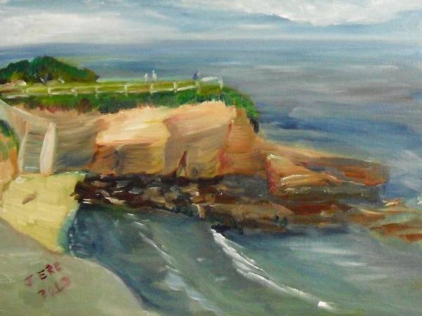 Painting - La Jolla Cove Stairway Number 1 by Jeremy McKay