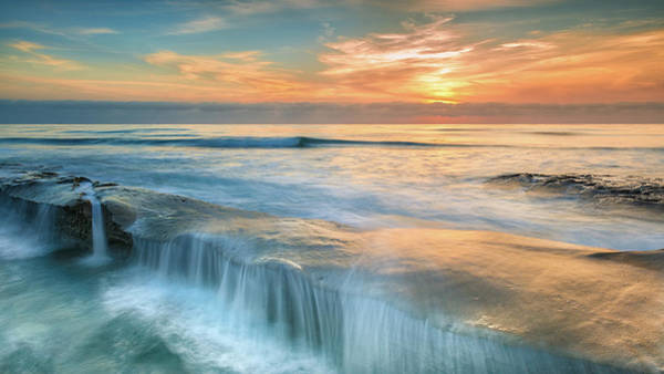 Soothing Photograph - La Jolla Falls by Joseph Smith