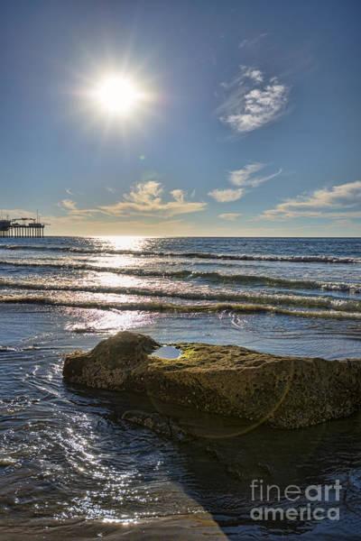 Scripps Pier Photograph - La Jolla Rocks by Keith Ducker