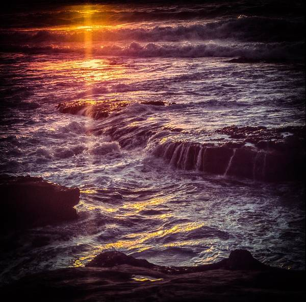 Photograph - La Jolla Sunset-color by Samuel M Purvis III