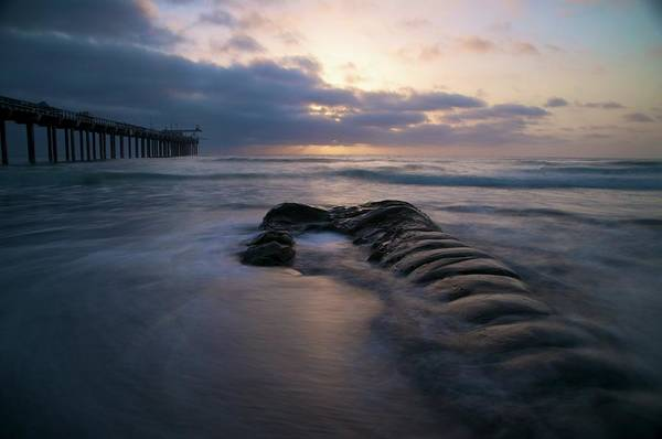 Scripps Pier Photograph - La Jolla Sunset by Michael White