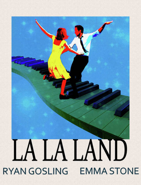 Goslings Mixed Media - La La Land Movie Poster by Dan Sproul