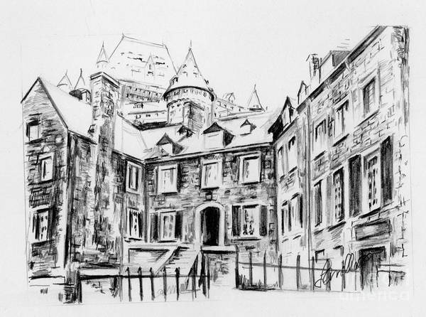 Quebec City Drawing - La Maison Chevalier by Louise Lavallee