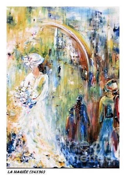 Bridesmaids Painting - La Mariee by Aline Halle-Gilbert