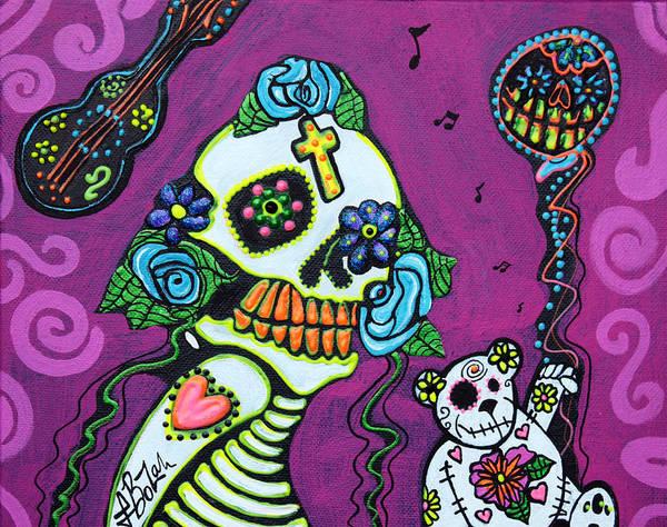 Wall Art - Painting - La Mascarada by Laura Barbosa