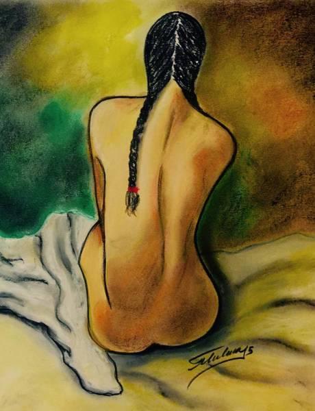 Drawing - La Mestiza by Thelma Delgado