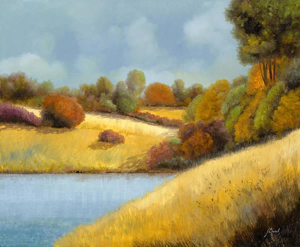 Wall Art - Painting - La Mietitura Sul Lago by Guido Borelli