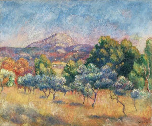 Painting - La Montagne Sainte-victoire by Pierre-Auguste Renoir