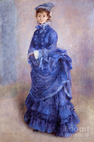 Blues Painting - La Parisienne The Blue Lady  by Pierre Auguste Renoir