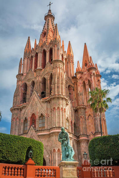 San Miguel De Allende Wall Art - Photograph - La Parroquia by Inge Johnsson