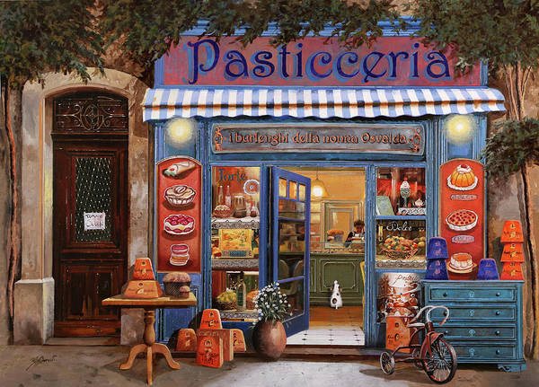 Front Wall Art - Painting - La Pasticceria by Guido Borelli