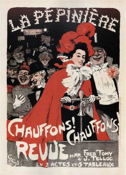Revue Wall Art - Mixed Media - La Pepiniere - Nightclub Act In Paris - Vintage Advertising Poster by Studio Grafiikka