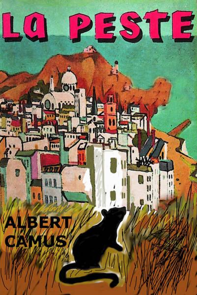 Mixed Media - La Peste  Albert Camus Poster by Paul Sutcliffe