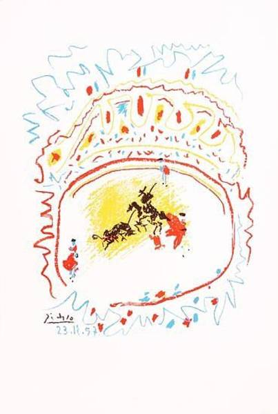 Torro Painting - La Petite Corrida by Pablo Picasso