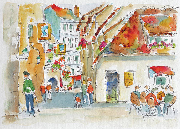 Painting - La Petite France Strasbourg by Pat Katz