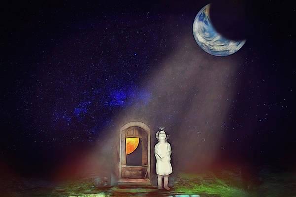 Little Planet Digital Art - La Petite Princesse by John Haldane