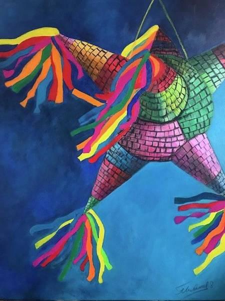 Painting - La Pinata  by Thelma Delgado