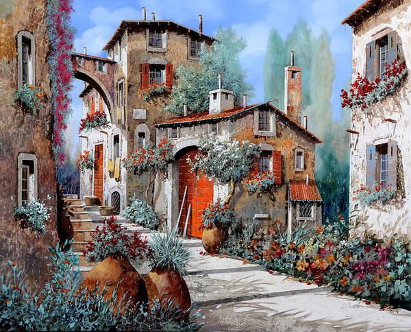 Wall Art - Painting - La Porta Rossa by Guido Borelli