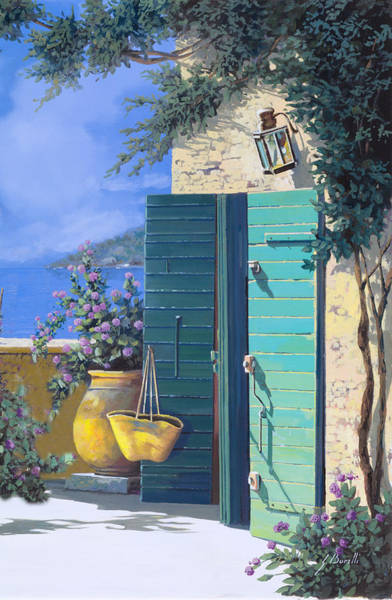 Bag Wall Art - Painting - La Porta Verde by Guido Borelli