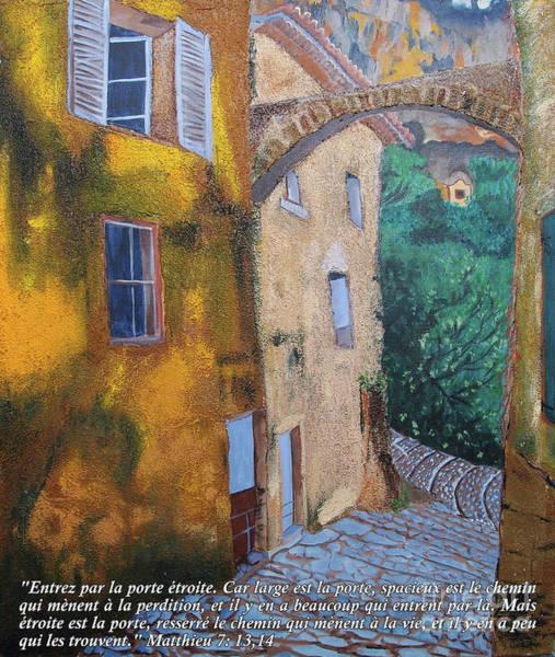 Francaise Painting - La Porte Etroite by Lois Viguier