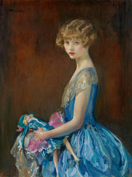 Wall Art - Painting - La Poupee Aka The French Doll by Walter Ernest Webster