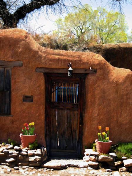Photograph - La Puerta Marron Vieja - The Old Brown Door by Kurt Van Wagner