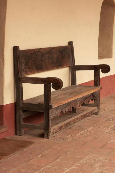 La Purisima Mission Photograph - La Purisima Mission Bench by Art Block Collections
