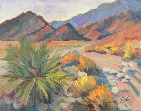Wall Art - Painting - La Quinta Cove Hiking Trail by Diane McClary