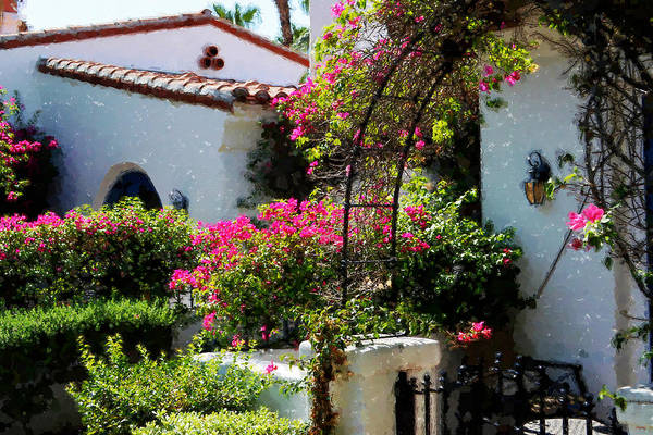 Digital Art - La Quinta Resort Walkway Impressions - Two by Glenn McCarthy Art and Photography