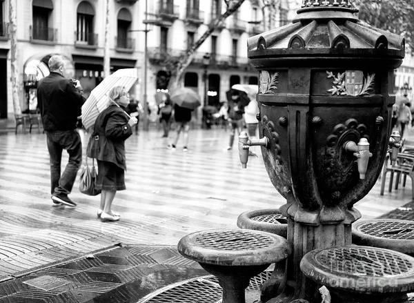Wall Art - Photograph - La Rambla Drinking Fountain Barcelona by John Rizzuto