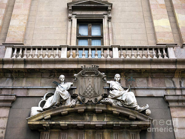 Photograph - Barcelona La Rambla Facade by John Rizzuto
