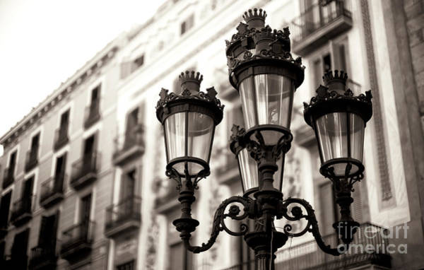 Photograph - La Rambla Lamp Post Barcelona by John Rizzuto