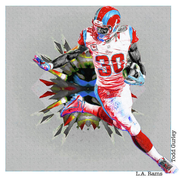 Photograph - La Rams Paint Todd Gurley 5b by David Haskett II