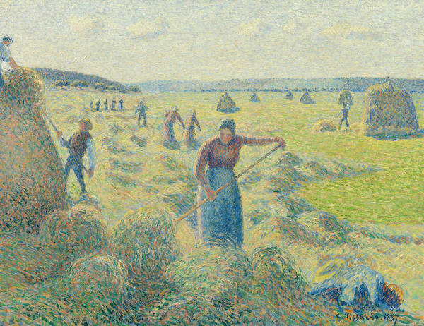 Painting - The Harvesting Of Hay Eragny  by Camille Pissarro