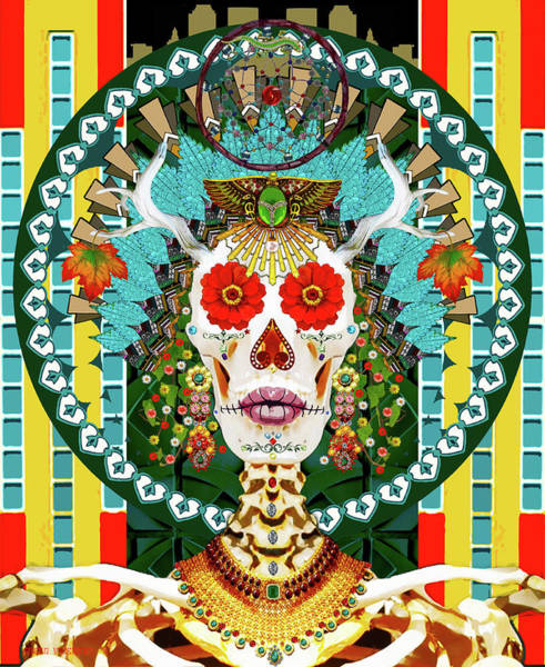 Digital Art - La Reina De Los Muertos by Susan Vineyard