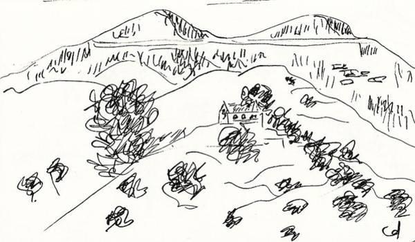 Drawing - La Retama Mijas by Chani Demuijlder