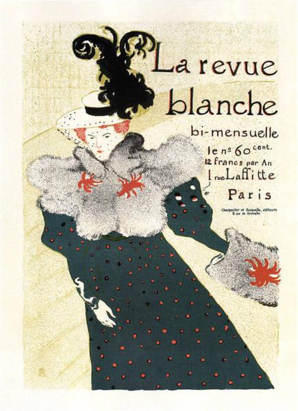 Revue Wall Art - Mixed Media - La Revue Blanche - Magazine Cover - Vintage Advertising Poster by Studio Grafiikka