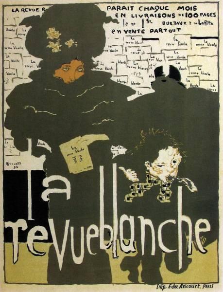 Wall Art - Mixed Media - La Revue Blanche - The White Magazine - Vintage Advertising Poster by Studio Grafiikka