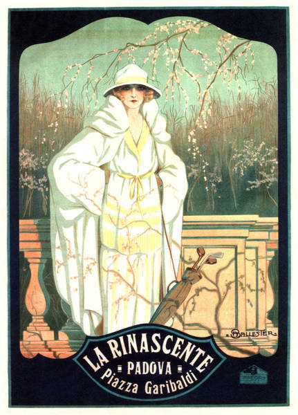 Clothing Mixed Media - La Rinascente - Italian Store - Vintage Advertising Poster by Studio Grafiikka