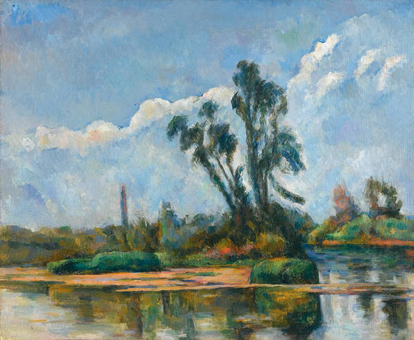 Riviere Painting - La Riviere by Paul Cezanne