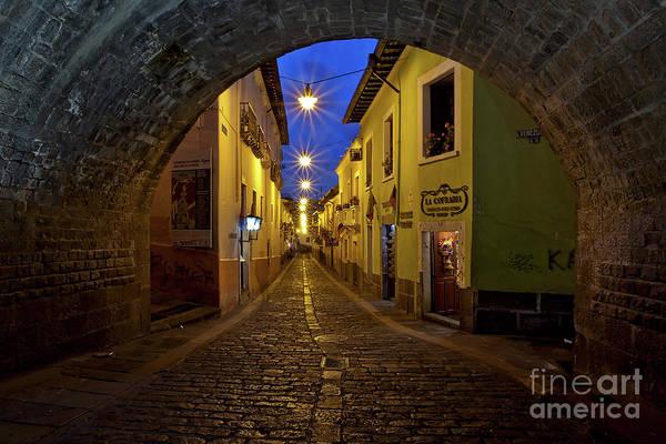 Photograph - La Ronda Calle In Old Town Quito, Ecuador by Sam Antonio Photography
