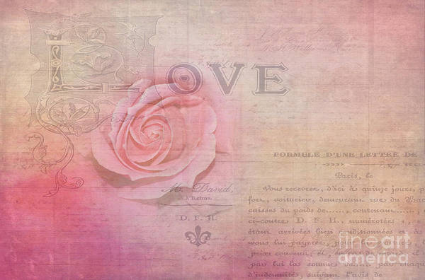 Overlay Photograph - La Rose D'amour By Kaye Menner by Kaye Menner