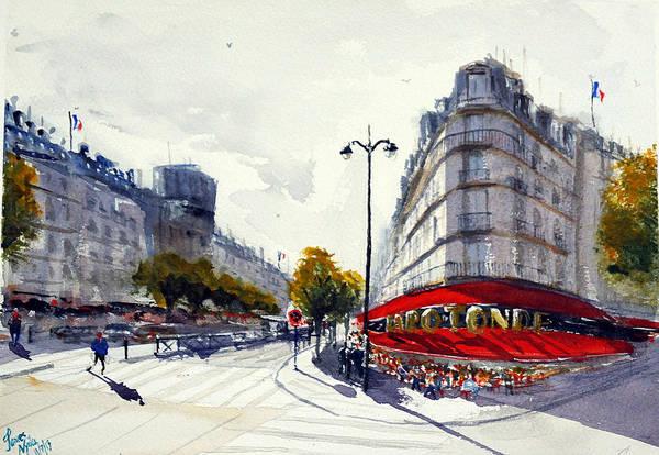 Wall Art - Painting - La Rotonde, Perspective by James Nyika