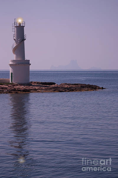 Baleares Photograph - La Sabina Lighthouse Formentera And The Island Of Es Vedra by John Edwards
