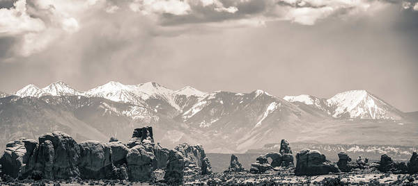 Photograph - La Sal Mountain And Arches Panoramic Landscape - Utah by Gregory Ballos