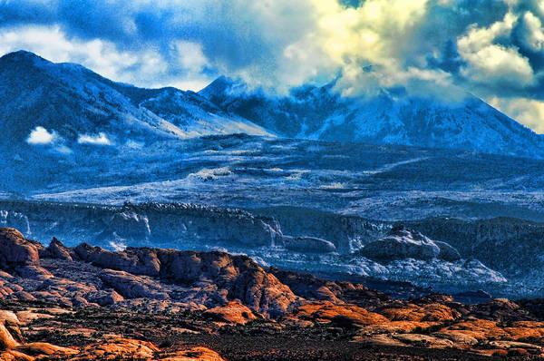La Sal Mountains Arches National Park Art Print